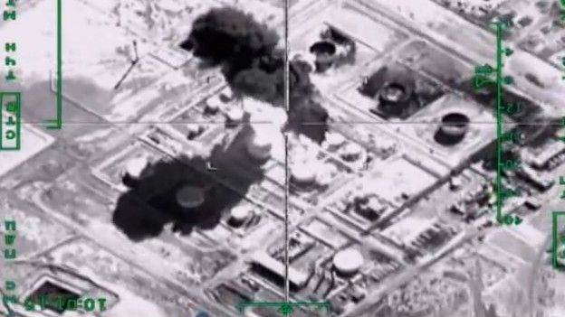 Bombardeo ruso contra supuestos objetivos de Estado Islamico
