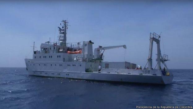 Buque de la marina colombiana