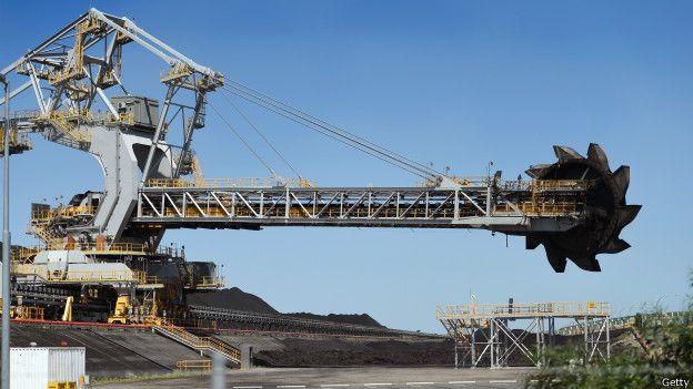 Maquinaria para la explotacion de carbón