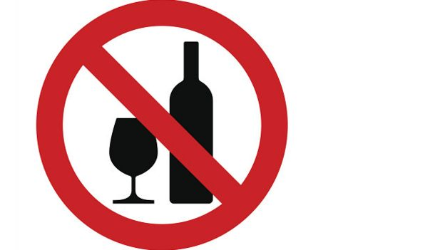 Prohibido tomar vino