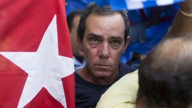Protesta en La Habana, Cuba