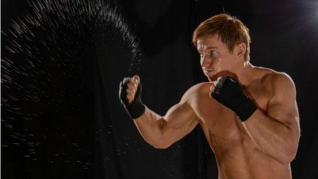 Un boxeador y su sudor