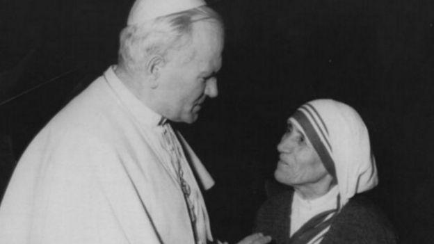 Mẹ Teresa và Đức giáo Hoàng Gioan Phaolo II