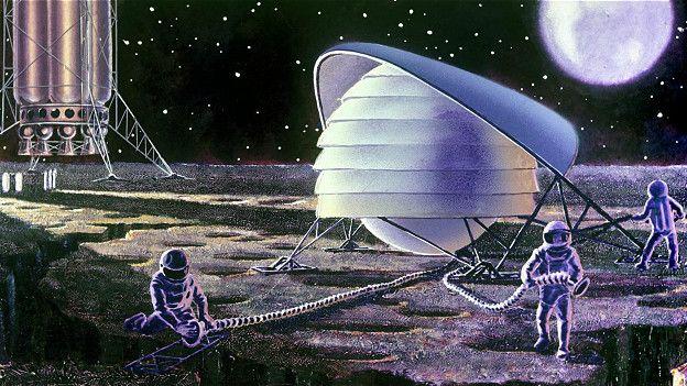 Представления фантастов о том, как будет выглядеть лунная база, могут оказаться весьма далёкими от реальности