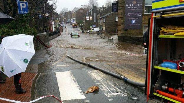 Затопленные улицы Хоэрта
