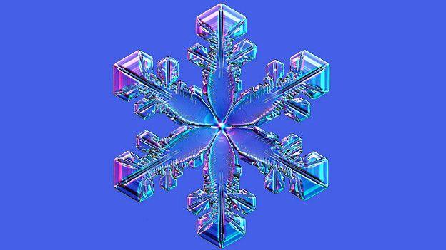 Снежинка - это монокристалл льда