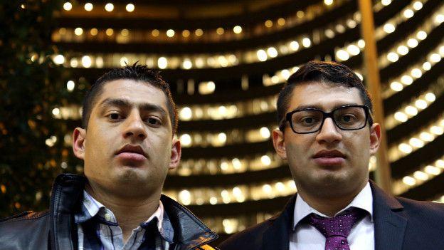 Wilber (izq.) y Carlos