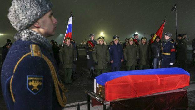 похороны российского пилота