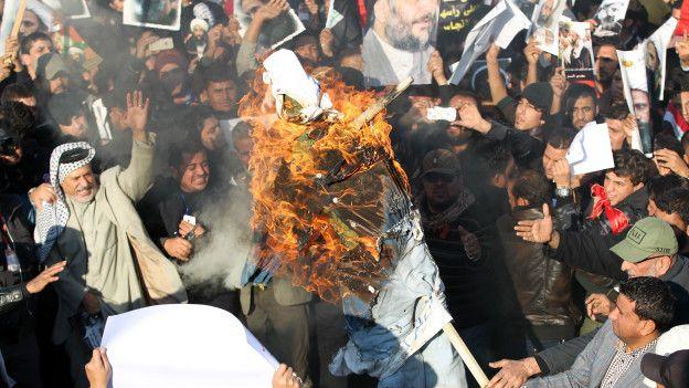 Protestas en Irak por la ejecución de un clérigo chiita en Arabia Saudita