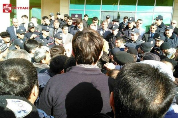 Протесты в Ленкорани