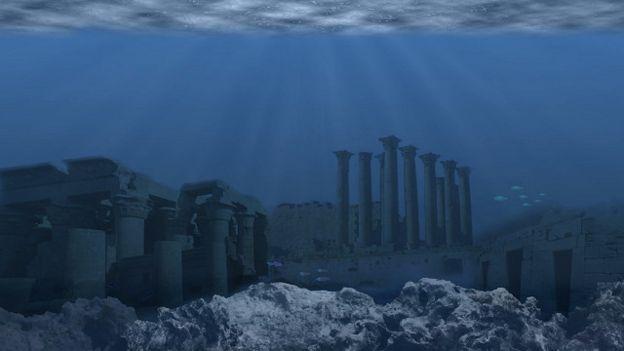 Una ilustración de la Atlántida