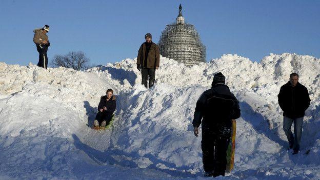 Снег в Вашингтоне