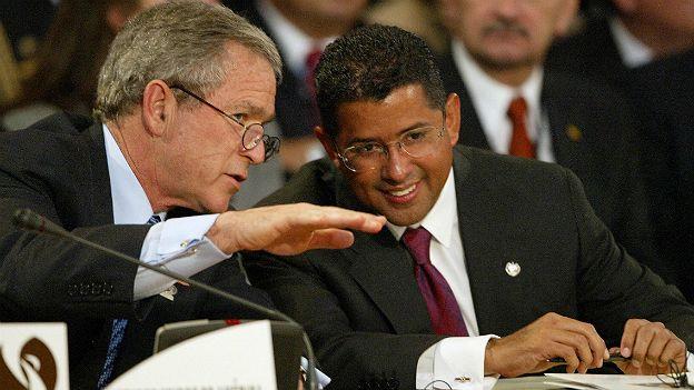 George W. Bush y Francisco Flores