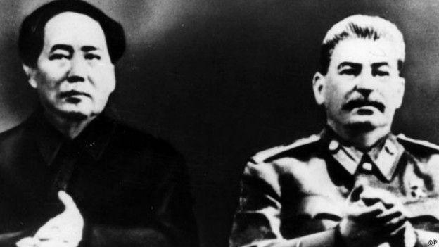 Josef Stalin y Mao Zedung