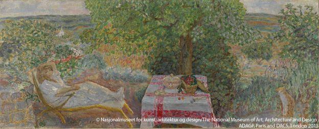 Pierre Bonnard, Siesta en el jardín (Sieste au jardin), 1914