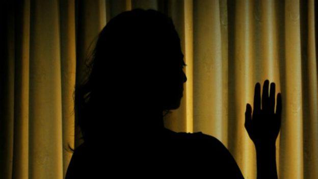 Mujer víctima de abuso