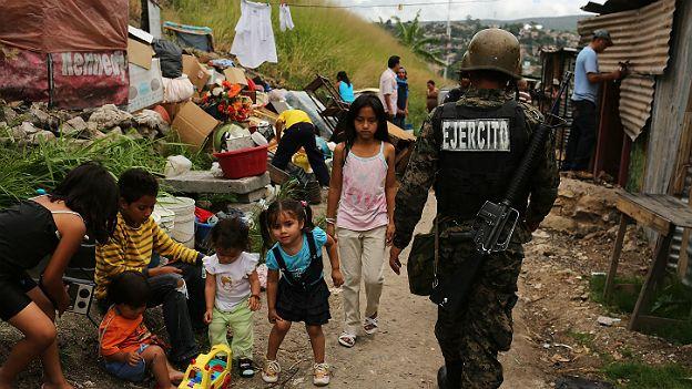 Soldado en Honduras