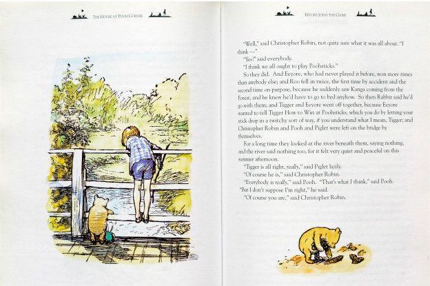 Una página ilustrada de Winnie the Pooh