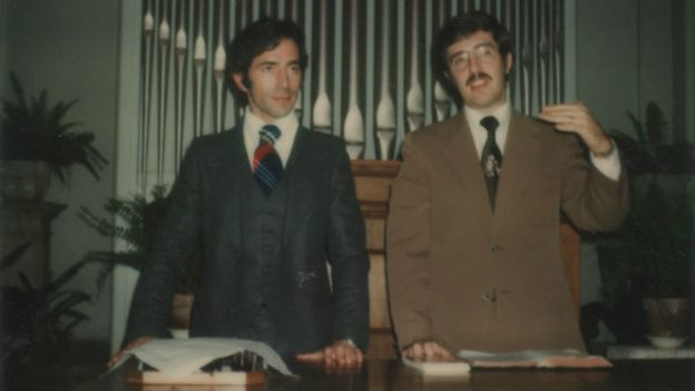 С пастором Джоэлем в баптистской церкви