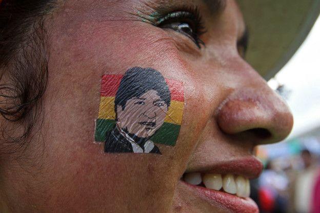 Seguidora de Evo Morales