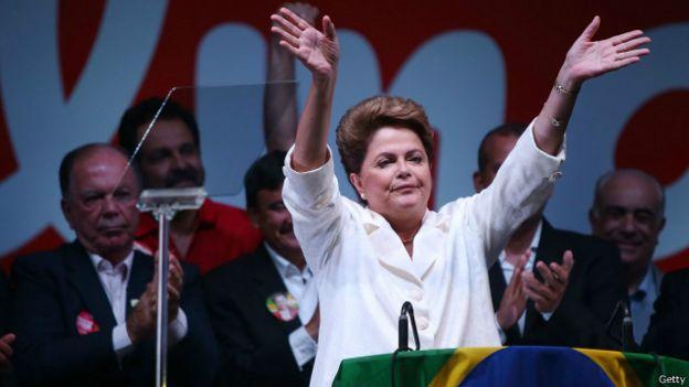Presidenta brasileña, Dilma Rousseff, durante un acto público.