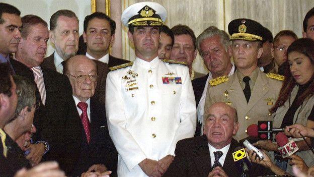 Gustavo Díaz fue subjefe de la Casa Militar durante el breve gobierno de Pedro Carmona