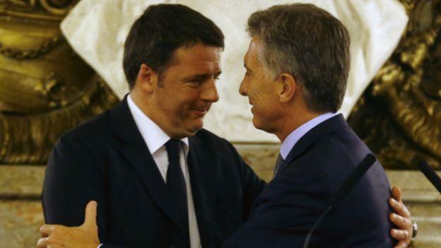 El primer ministro de Italia, Matteo Renzi, visitó recientemente la Argentina tras el acuerdo con los holdouts italianos.
