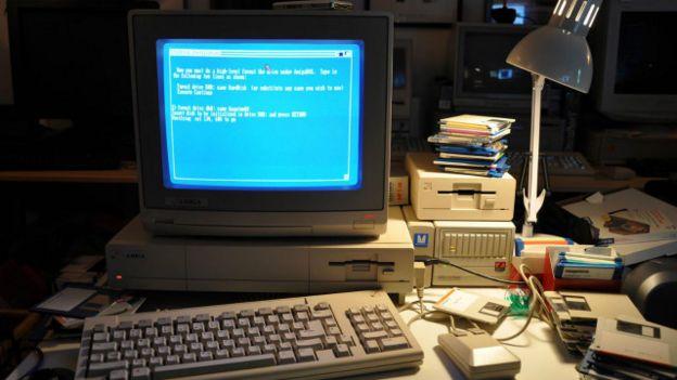Una computadora antigua