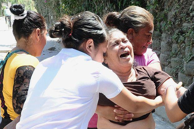 Familia de víctima en El Salvador