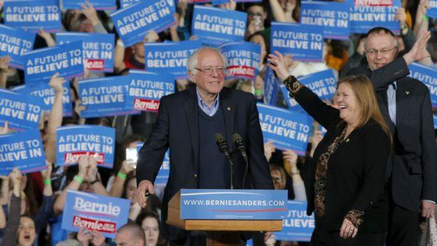 民主党另一候选人桑德斯