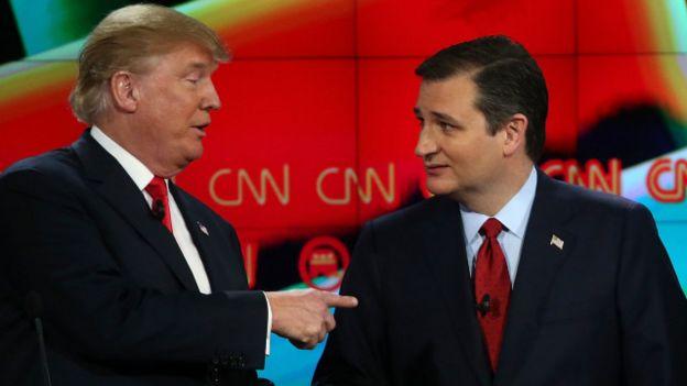 Trump y Cruz