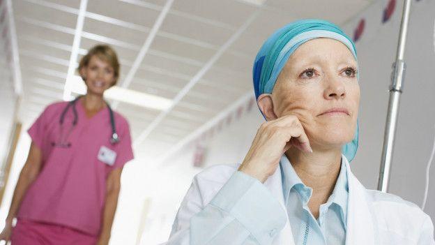 Paciente enferma de cáncer