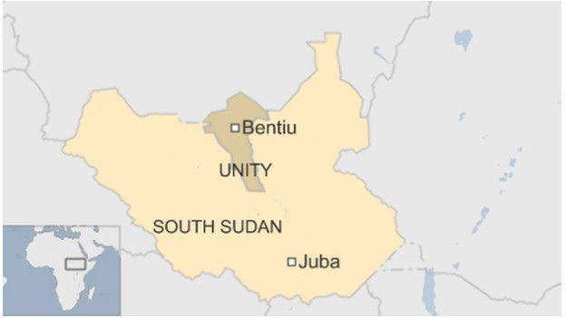 Sudán del Sur, mapa