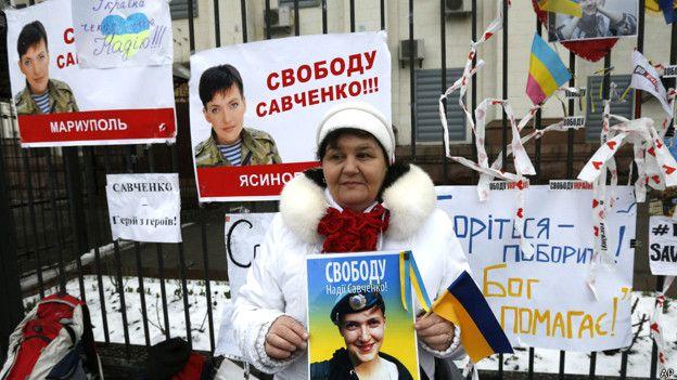 Simpatizantes de Nadia Savchenko