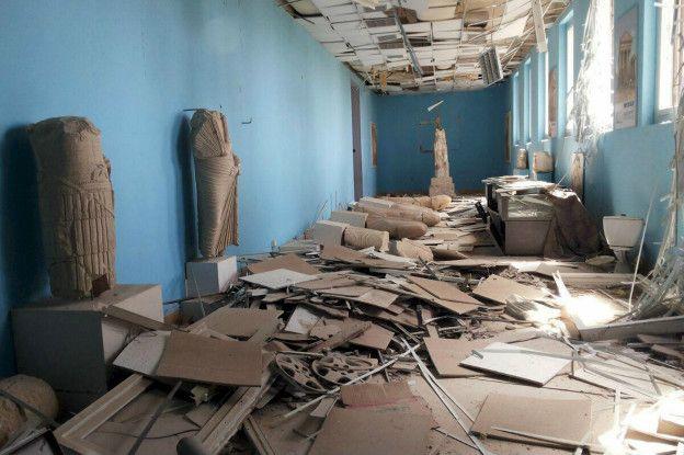 Una de las salas del museo, de atractivo turístico en el pasado, quedó en completa ruina