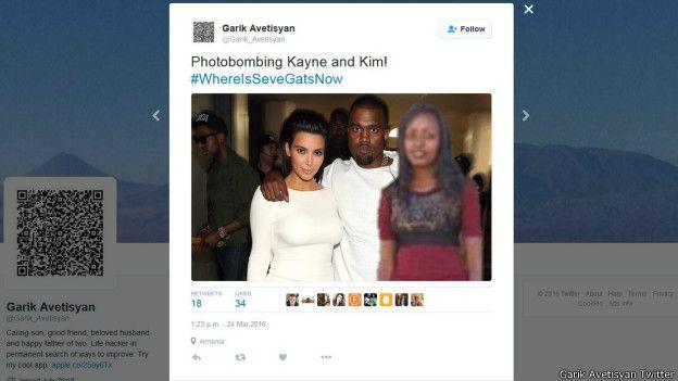 Seve Gat junto a Kim Kardashian