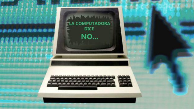 Una computadora con un mensaje