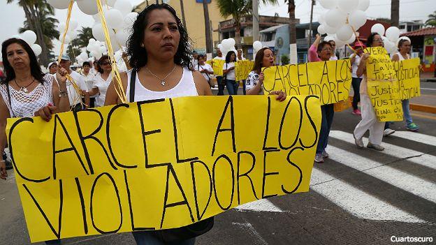 mujeres protestan