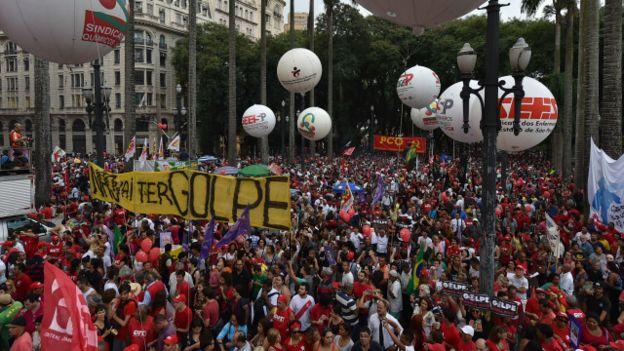 Protestos pró-governo | AFP