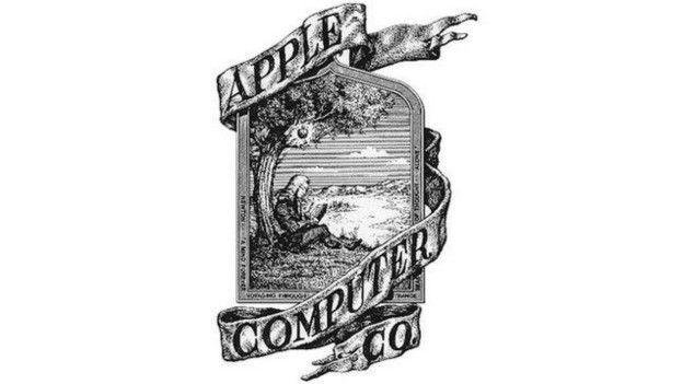 Primer logo de Apple