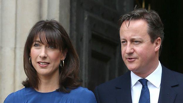 Samantha y David Cameron