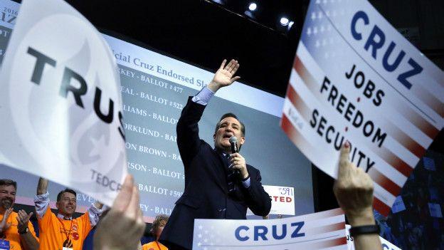 Ted Cruz durante un mitin.
