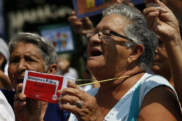 El pasado 31 de marzo se realizó una manifestación en Caracas (Venezuela) por el desabastecimiento de medicinas que hay en el país.