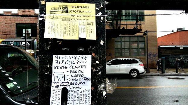 Letrero en el barrio Elmhursts, Nueva York