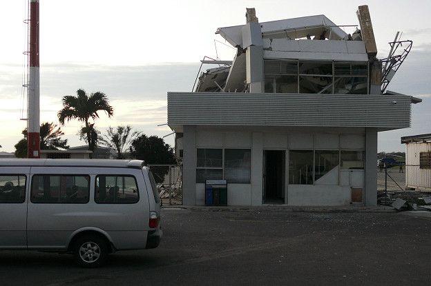 Aeropuerto de Manta destruido.