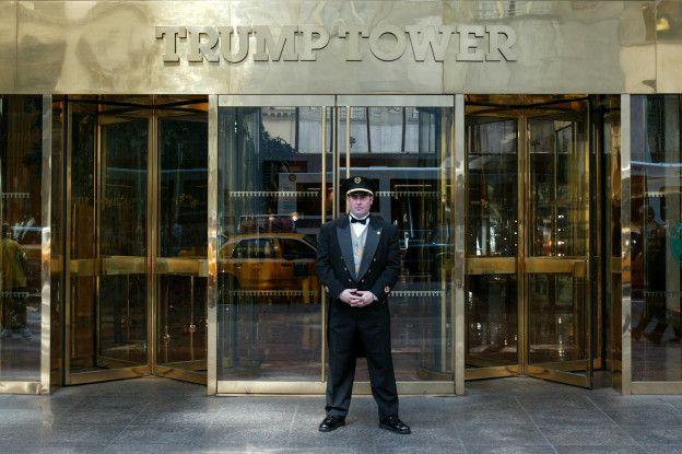 Fachada de la torre Trump