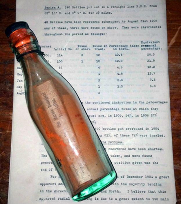 Самую старую бутылку спосланием отыскали  на германском  острове Амрум