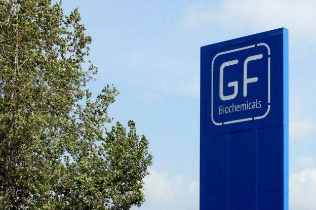 Letrero de GF Biochemicals