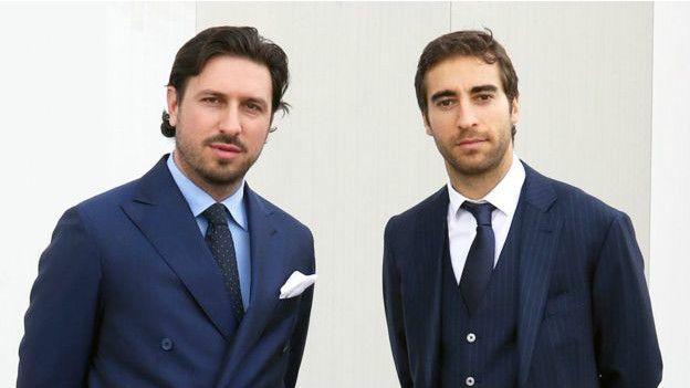 Mathieu Flamini y su socio Pasquale Granata