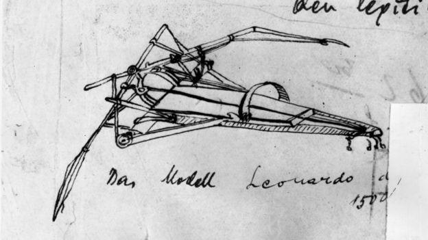 La máquina voladora de Leonardo